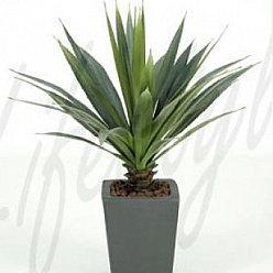 Planta artificiala de interior Agave 35 cm - Agave Grey-green